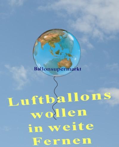 Luftballons wollen mit Helium in weite Fernen fliegen